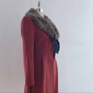 H&M vintage style coat with removable faux fur